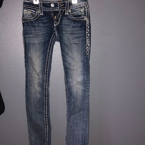 Rock Revival cuff straight jeans